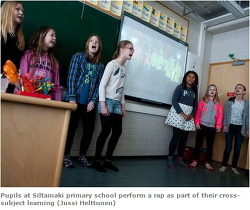 핀란드 제 2의 교육 혁명, 직업연계 과목 선택,  랩rap 도 배운다. 학생들끼리 소통 강조