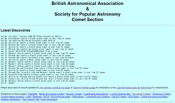 혜성 (comet) 정보를 제공해주는 사이트