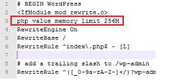 워드프레스. PHP가용 메모리 증가시키기.