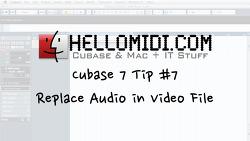 큐베이스 7 팁 #7 : Replace Audio in Video File