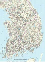 남한민국 산경도