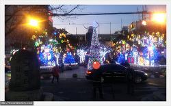 구포역 앞 크리스마스 트리 장식
