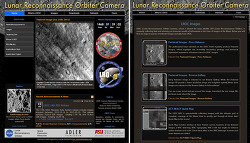 달의 고해상도 이미지를 볼 수 있는 웹사이트 LROC website Apollo landing site