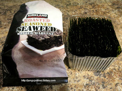 코스코 김  Kirkland roasted seasoned Seaweed