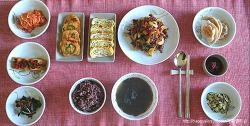 남편만을 위한 생일 아침 밥상/혼밥, 매콤 고추장 불고기와 그외 좋아하는 몇가지