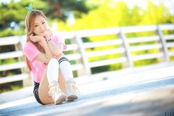 귀엽고 분위기있는 그녀 :) 레이싱모델 유진 님 (4-PICS)