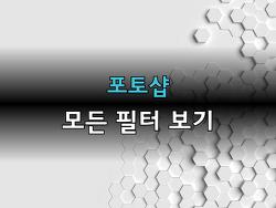 포토샵 모든 필터 보기 - 강좌 009