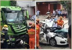 차가 사라지는 끔찍한 중국의 교통사고 장면 ㄷㄷㄷ
