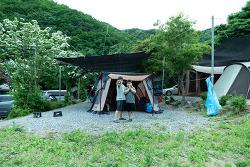 27th 캠핑스케치 - 강원도 원주 매봉힐링쉼터오토캠핑장, 빗속에 먹방만...