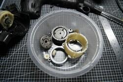 전동드릴 기어뭉치, 기어박스 분해 청소후 조립 순서 - 구형 히타치 드릴 기준