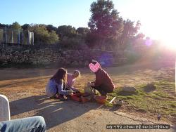스페인 고산의 날씨 좋은 날, 요즘 아이들과 하는 일