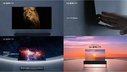 삼성 QLED 와 LG OLED TV 광고