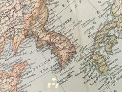 1951년 세계지도 속 한반도