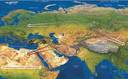 시베리아 전차의 확산 경로와 유적 범위