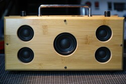 [DIY] 대나무 수저통 블루투스 2.1채널 스피커 자작 3호 - 라디오 통합모듈과 에어덕트튜브와 패시브 적용, 배선도