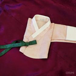 연분홍 양단 저고리와 자주색 치마, 친정어머니 혼주한복