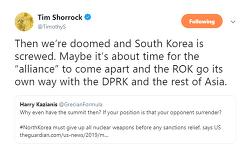 Tim Shorrock 팀 셔록, 북미 하노이 회담 이후 : 한미 동맹 해체하고, 한국 자기 길을 가야