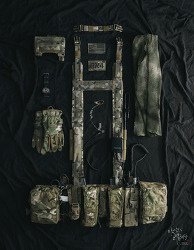 [Chest rig] AWS Split front chest rig set up.