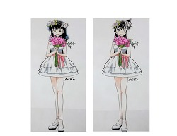 이누야샤 가영VS 명탐정코난 미란 봄 꽃 드레스