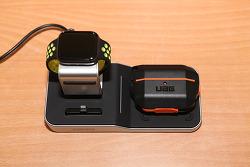 초텍 4in1 무선충전독 T316-KR 아이패드 에어팟 애플워치 스마트폰 동시 충전