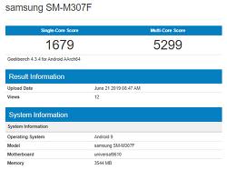삼성 - 엑시노스 9610을 탑재한 갤럭시 M30s(SM-M307F), GeekBench에 포착