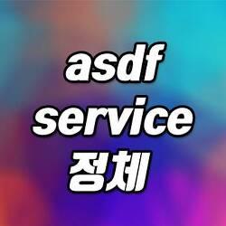 asdf service 정체 및 중지방법
