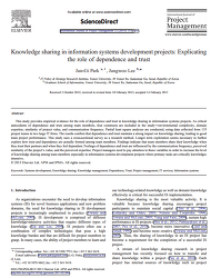 [SSCI] Knowledge sharing in information systems development projects: Explicating the role of dependence and trust, IJPM, 2014