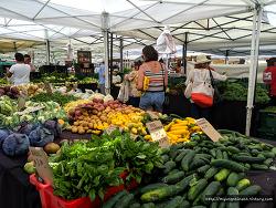 미국식 시장 구경하기, Larchmont Farmers Market(라치몬트 파머스 마켓 쇼핑)