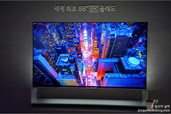 88인치 8K TV는 올레드로 봐야지 LED로 보면 글쎄!! LG 시그니처 올레드TV(OLED88Z9K) 가격은 얼마나?