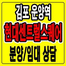 [김포상가/분양임대] 운양역 현대센트럴스퀘어 분양홍보관 위치