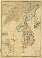 1875년 일본 육군 참모국이 제작한 일본 최초의 조선 전도