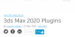 3ds Max 2020 출시와 함꼐 업데이트 된 Plugins