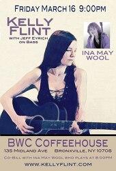 Kelly Flint 최근 소식, BWC Coffeehouse Live Music 3월 공연, Dave's True Story