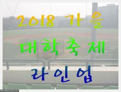 2학기 가을 전국 대학축제 라인업(ver. 2018년)