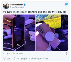 애플 - 아이폰12 시리즈용 맥세이프 충전기는 타사 스마트폰에서도 사용 가능