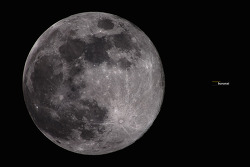 4K 2240mm화각으로 보는 보름달 (SuperMoon) 그리고, 아폴로 11호 착륙지점