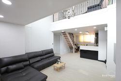 사다리형 계단을 고정형으로 바꾼 복층아파트인테리어