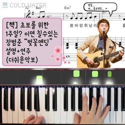 """【핵초보】 버스커 """"벚꽃엔딩"""" 1주일 피아노 설명+음악 더쉬운악보 (악보는 아래 링크가 있어요)"""