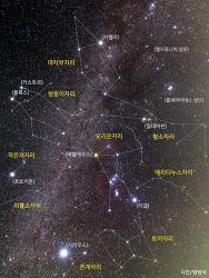 겨울철 별자리와 은하수