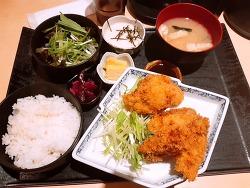 카키후라이 정식 - 일본 회사원의 점심