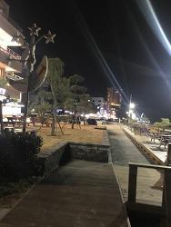 저녁 산책 - 강문해변
