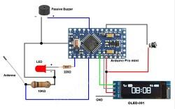 아두이노 전자파 측정기 (Arduino EMS Detector) 만들기 - 전기장 측정을 위한 회로도 및 스케치 파일