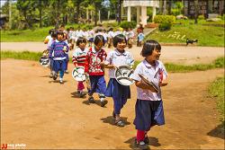 태국 치앙마이 몽족마을 초등학교 아이들의 점심시간