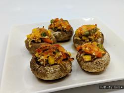 아이들 간식 요리, 손님 요리로 안성 맞춤! 양송이버섯구이 만들기