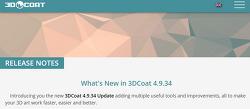 3DCoat 4.9.34 출시