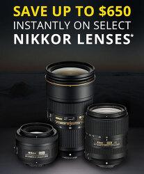 니콘 Nikkor F- 마운트 렌즈 28가지에 새로운 리베이트 적용
