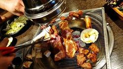 충무로역 맛집 늦게까지 하는 회식장소 좋은 고기집 옛날농장