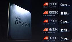 라이젠3 가격 출시일 3900x 3800x 3700x 3600x 3600 3950x (Zen2) AMD CPU