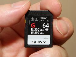 소니 SF-G64 가장 빠른 SD 메모리 카드 UHS-II 지원 카드리더기 MRW-S1 후기