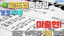 미출현 최근 10주간 안 나온 번호 로또랩 로또922회당첨번호 대비Forecast2 Week31 2020